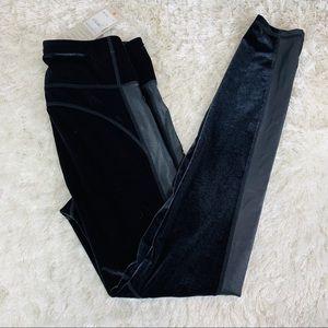 Sweaty Betty Velour Leggings NWT Lycra Stripe